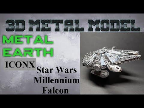Metal Earth ICONX Build - Star Wars Millennium Falcon