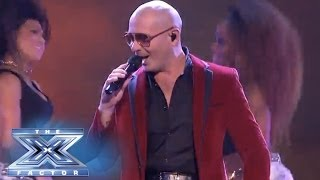 "Finale: Pitbull Yells ""timber!"" - The X Factor Usa 2013"