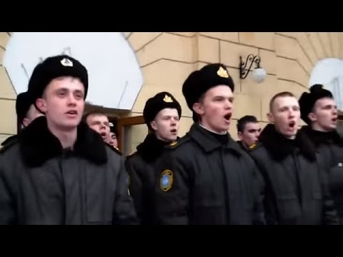 Ukraine War - Ukrainian navies perform national anthem in occupied Crimea