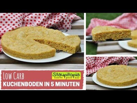 Low Carb Kuchenboden Ohne Zucker In Nur 5 Minuten I Schneller Low
