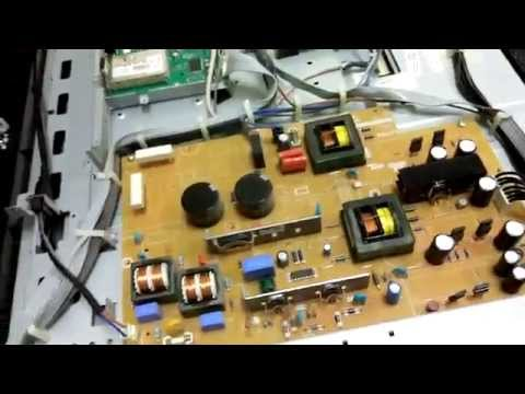 Philips 37pf9631d Lcd Tv Repair Service To Fix No Power Issue With Green Power Light