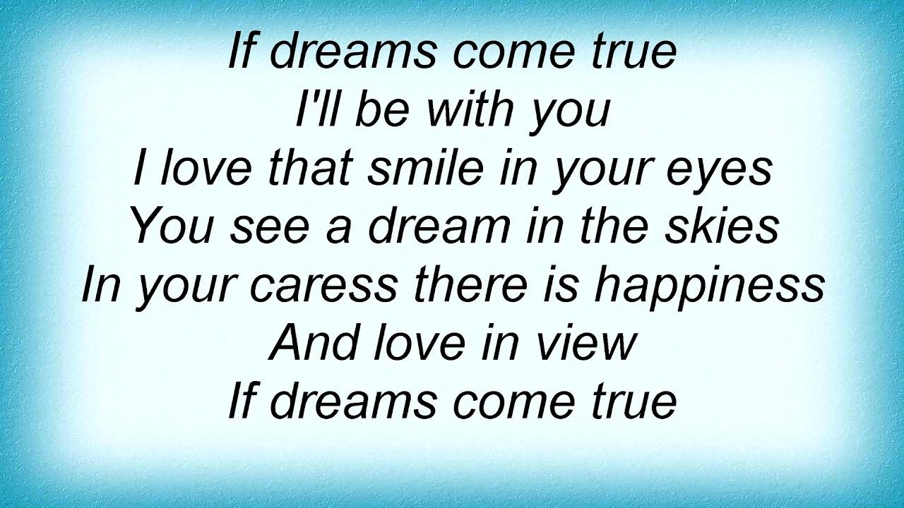 Billie Holiday - If Dreams Come True Lyrics - YouTube