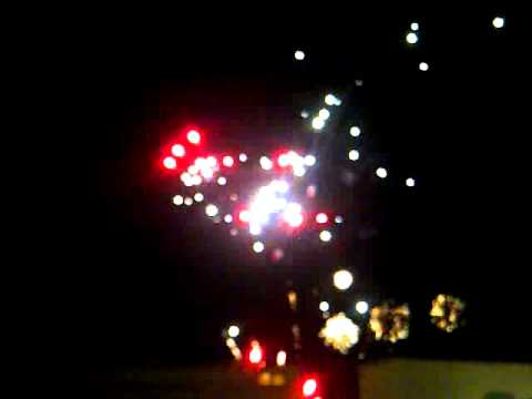 fireworks show at grayson county speedway
