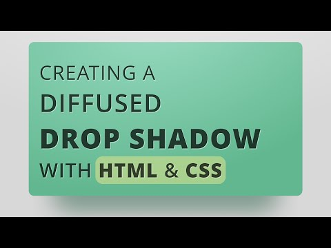 Creating A Diffused Drop Shadow With Only HTML & CSS