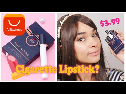 NUDE 💋 Cigarette Lipstick Set $3.99   Qibest Aliexpress Review