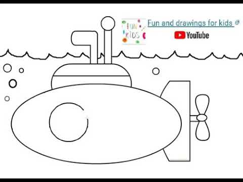 Submarino Amarillo - Dibujar y Colorear - YouTube