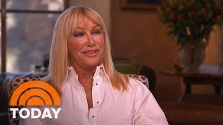 """In her new book, """"two's company,"""" actress and health advocate suzanne somers focuses on 50-year relationship with alan hamel, who is both husband and..."""