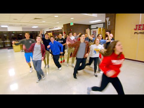 Jeff High School Radio & TV Lip Dub 2015 - Uptown Funk