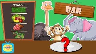 Co jedzą zwierzęta w Afryce? - Dzikie zwierzęta dla dzieci - Odgłosy zwierząt