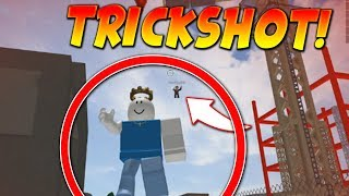 HITTING THE MOST INSANE TRICKSHOT! *HACKS?* - Roblox Knife Simulator