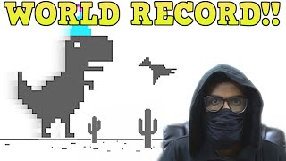 NEW Playing Chrome Dinosaur game FOR 1 YEAR (World Record)