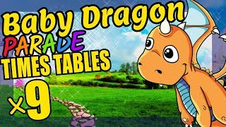 Baby Dragon Teaching Multiplication Times Tables x9 Educational Math Video for Kids