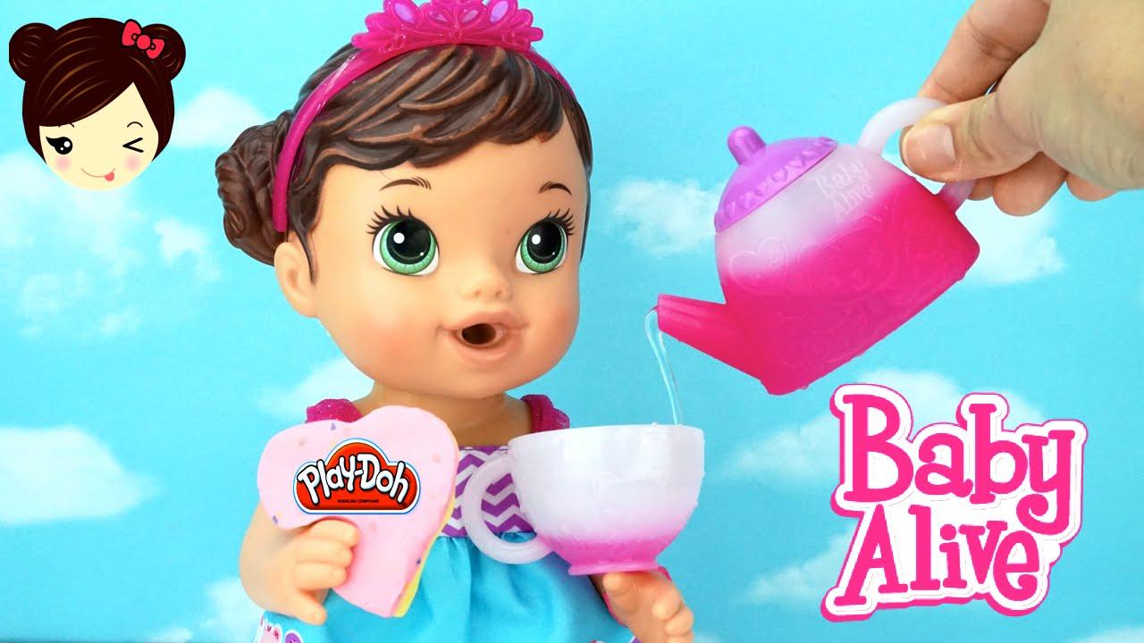 Baby Alive Mu 241 Eca Hora Del Te Con Play Doh Galletas