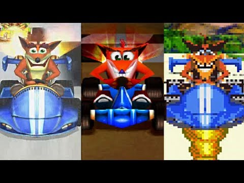 CNK vs CTR vs GBA - Characters Comparison | Road To CTR Nitro-Fueled
