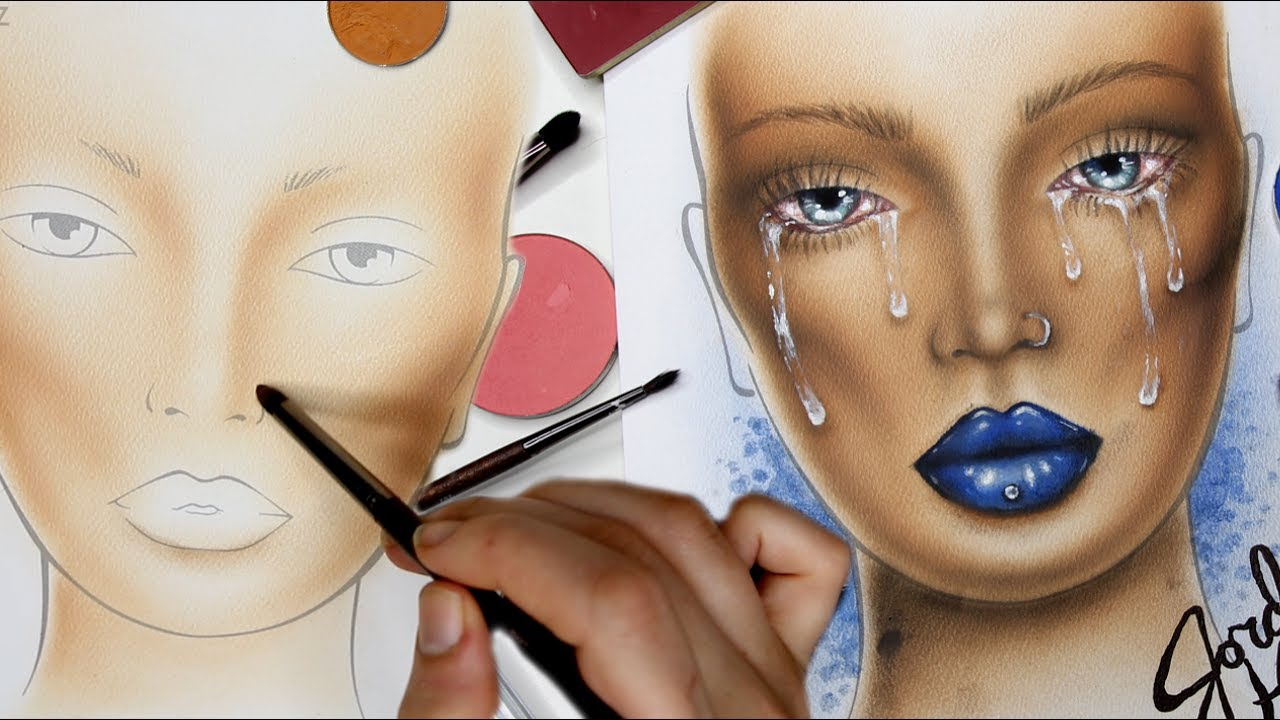 Crybaby makeup face chart time lapse also youtube rh