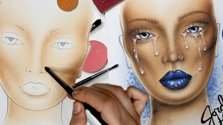 CRYBABY MAKEUP Face Chart Time Lapse