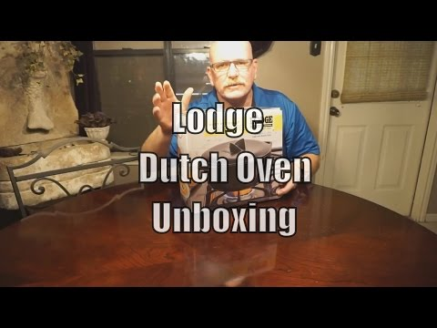Lodge Rust Resistant 6 Qt Cast Iron Dutch Oven with Cover Unboxing