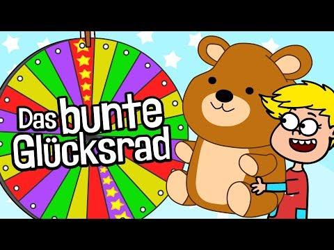 ♪ ♪ Kinderlied Glücksrad - Das bunte Glücksrad - Hurra Kinderlieder