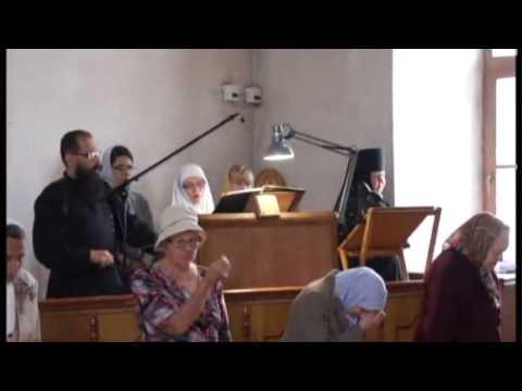 Брянск Знаменное пение Литургия Петропавловский монастырь