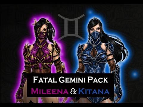 Mortal Kombat X Kitana Mileena Fatal Gemini Pack Fan Made