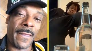 Snoop Dogg Tired Of The Bottle Cap Challenge!