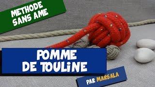 Noeud Pomme de Touline sans âme, sans bille ( monkey fist, poing de singe ) #noeud de lestage