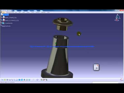 Catia V5 Tutorial|P2 Assemble Screw Jack|Coincidence Constraint|Mechanical Design Engineering