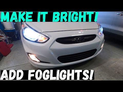 HOW TO INSTALL FOG LIGHTS IN A 2012-2017 HYUNDAI ACCENT & VERNA| Easy DIY foglight installation!