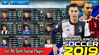 How To Get All Both Footed Players in Dream League Soccer 2019 - YouTube