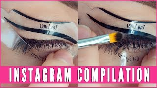 Eye Makeup Instagram Compilation | Beth Bender Beauty(A compilation of cat eyeliner, winged liner, and smokey eye makeup looks using our unique eye makeup and eyeliner stencils. All eye makeup looks created by ..., 2015-10-13T01:59:47.000Z)