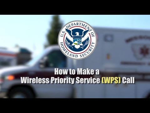 How To Make A Wireless Priority Service WPS Call