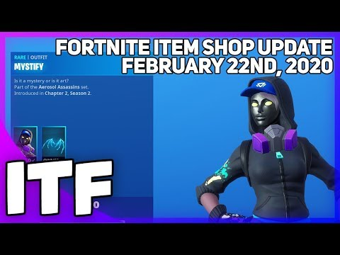 Fortnite Item Shop *NEW* MYSTIFY SKIN! [February 22nd, 2020] (Fortnite Battle Royale)