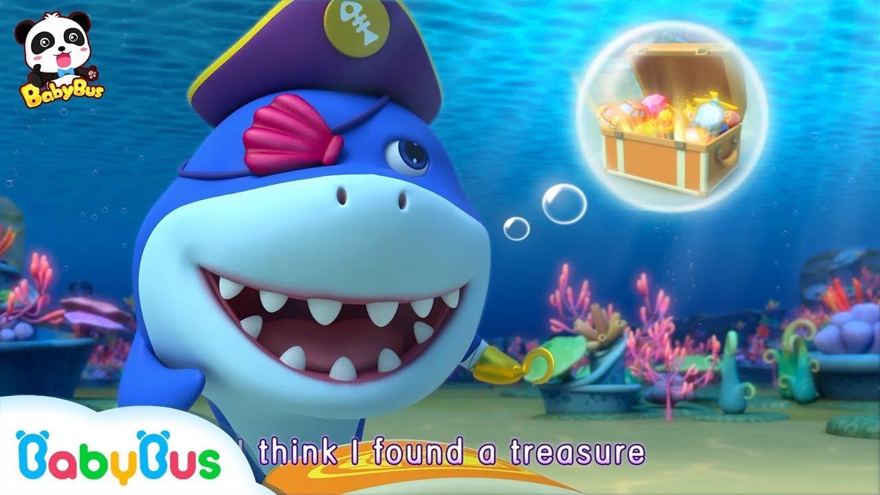 Pirate Shark Vs Monster Police Truck | Shark Song | Nursery Rhymes | Kids Songs | BabyBus