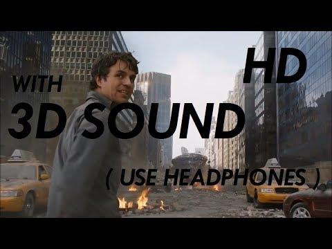 3D SOUND The Avengers  Hulks Im Always Angry Scene HD