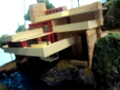 La casa de la cascada frank lloyd wright maqueta for Frank lloyd wright casa della prateria