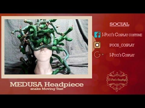 Medusa Headpiece Snake Moving