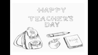 """How to draw Happy Teacher day"""" pencil drawing step by step"""