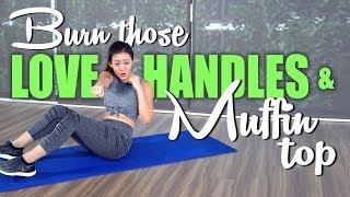 Burn Love Handles & Muffin Top (Home Workout) | No Weights | Joanna Soh
