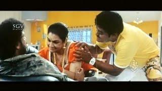 Lady Cook Fell on Ravichandran and Jaggesh shock to see | Kannada Comedy Scenes | Shemaroo Kannada