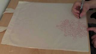 Speed Drawing (Custom Tote Bag design) - Sockhand