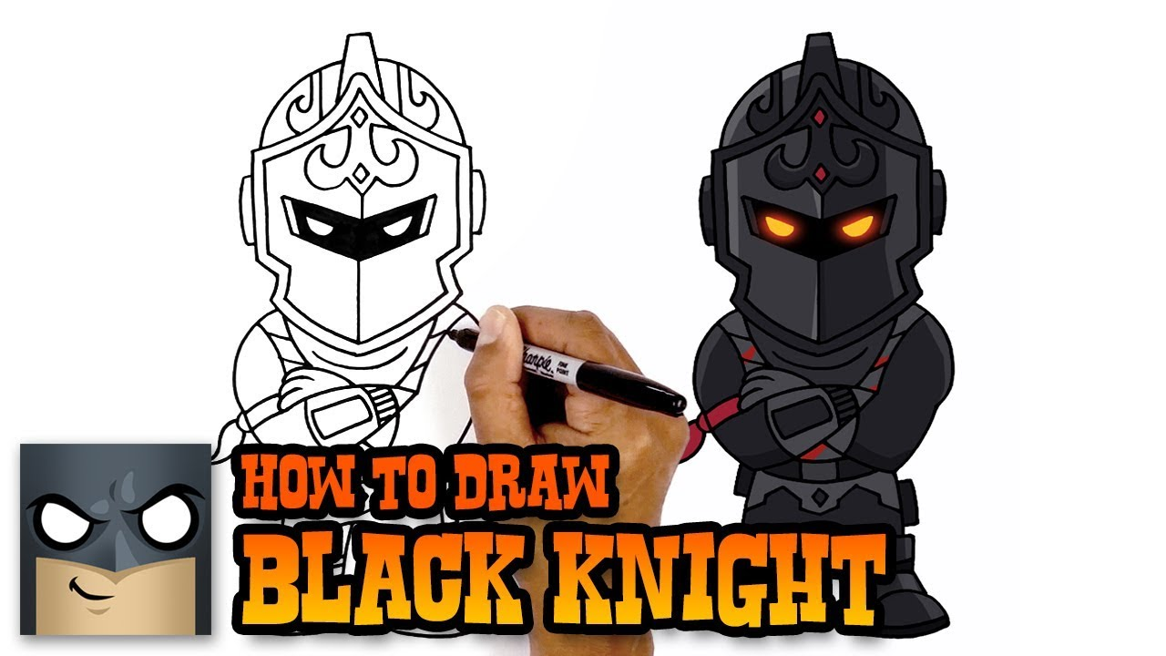 How To Draw Black Knight Fortnite Art Tutorial Youtube
