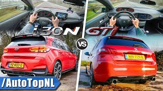 Hyundai i30 N vs Peugeot 308 GTi ACCELERATION TOP SPEED SOUND POV AUTOBAHN by AutoTopNL