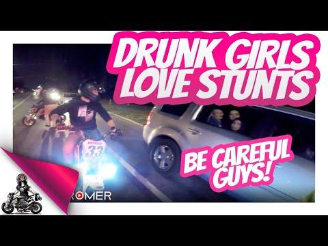 Drunk Girls Love Honda Grom Stunts!