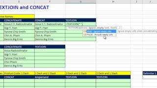 Excel Magic Trick 1281: TEXTJOIN & CONCAT New Excel 2016 functions (14 Examples of Joining Items)