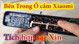Sạc Điện Thoại Tích Hợp Bên Trong Ổ Cắm Xiaomi - Xiaomi Mi Power Strip 3 Sockets