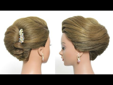 Simple French Roll Hairstyle For Long Hair Tutorial