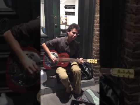 21 year old New Orleans Street Musician plays Jelly Roll Morton