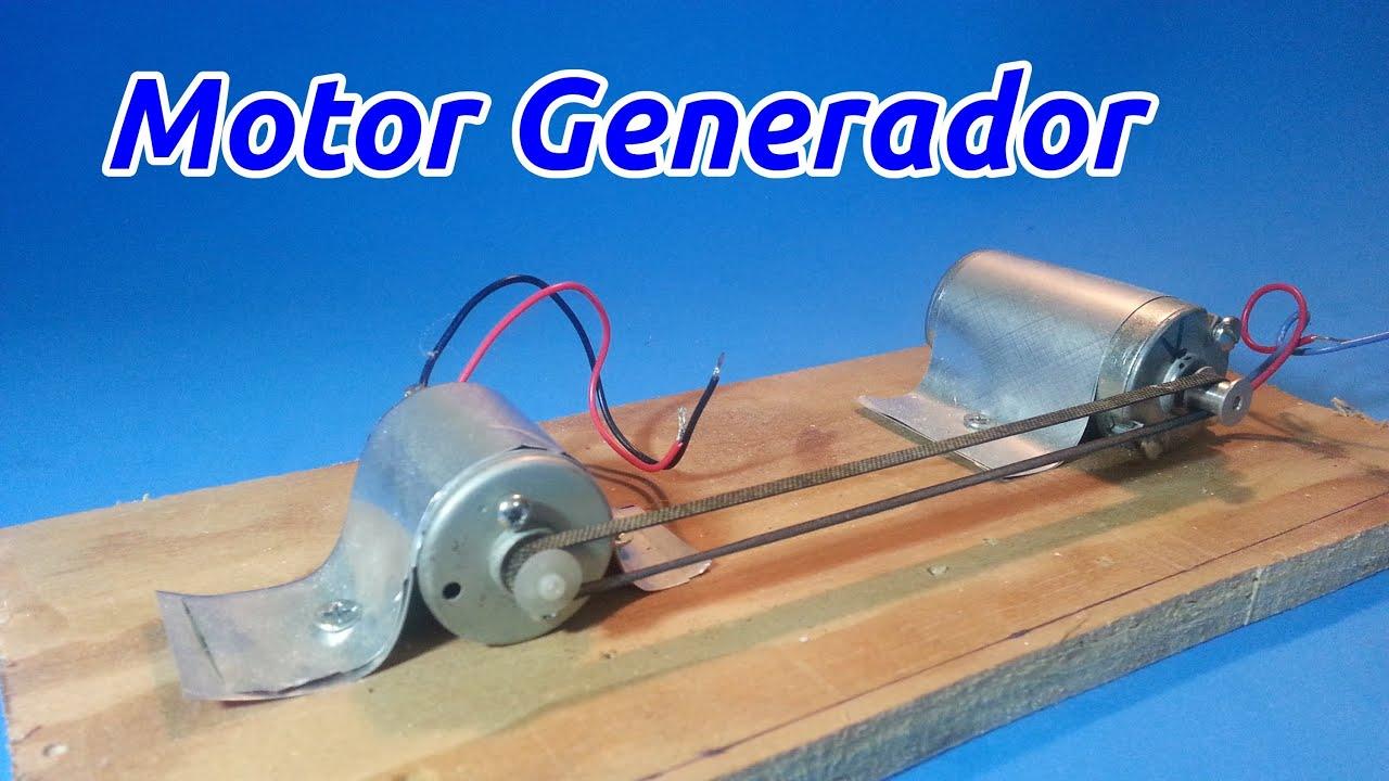 como hacer un mini generador de corriente continua