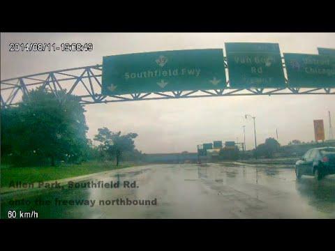 Detroit Flood 2014 - Historic Rain Event - My Drive Home, August 11