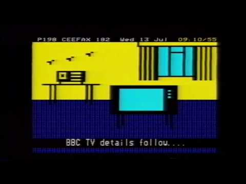 BBC1: Ceefax / Breakfast Time (intro/outro) - Wednesday 13th July 1983